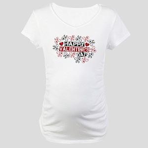 Happy Valentine's Day Maternity T-Shirt