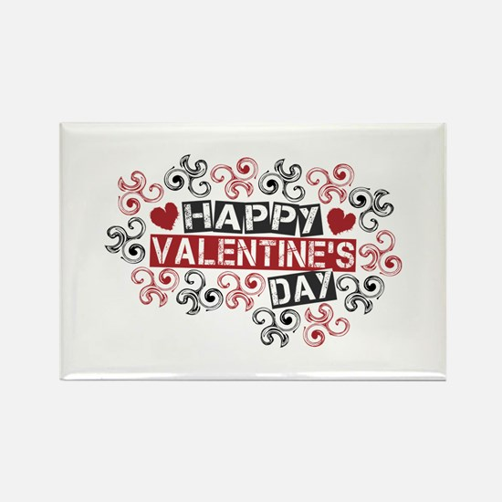 Happy Valentine's Day Rectangle Magnet