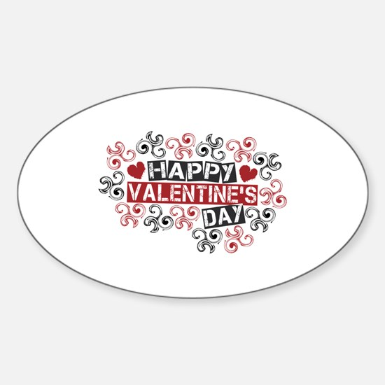 Happy Valentine's Day Sticker (Oval)