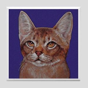 Abyssinian Cat Tile Coaster