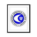 Colorado Springs Chess Night Framed Panel Print