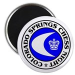 """Colorado Springs Chess Night 2.25"""" Magnet (10 pack"""