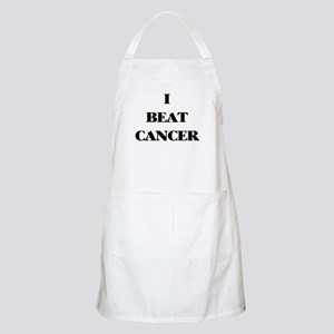 I BEAT CANCER on a BBQ Apron