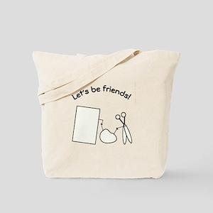 Rock, Paper, Scissor Friends Tote Bag