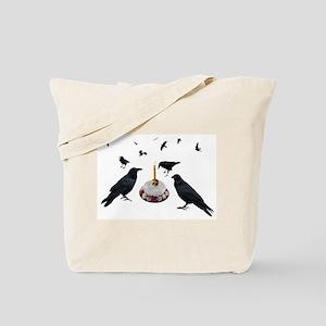 Crows Skull Cake Tote Bag