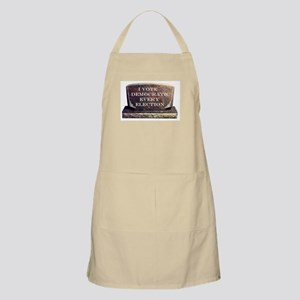 THE WHOLE CEMETERY VOTED TOO ! Apron