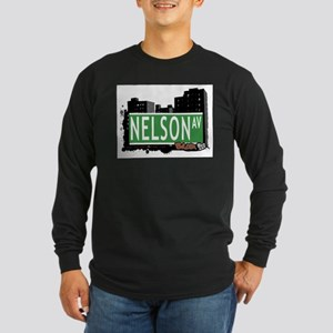 Nelson Av, Bronx, NYC Long Sleeve Dark T-Shirt