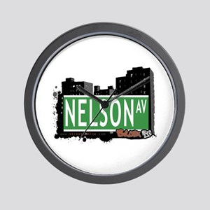 Nelson Av, Bronx, NYC Wall Clock