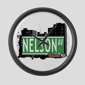 Nelson Av, Bronx, NYC Large Wall Clock