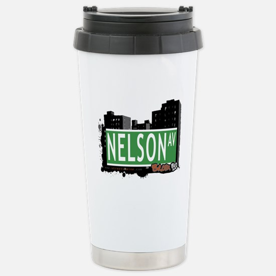 Nelson Av, Bronx, NYC Stainless Steel Travel Mug