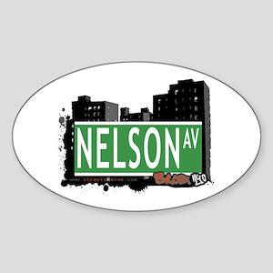 Nelson Av, Bronx, NYC Sticker (Oval)