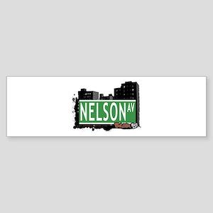 Nelson Av, Bronx, NYC Sticker (Bumper)