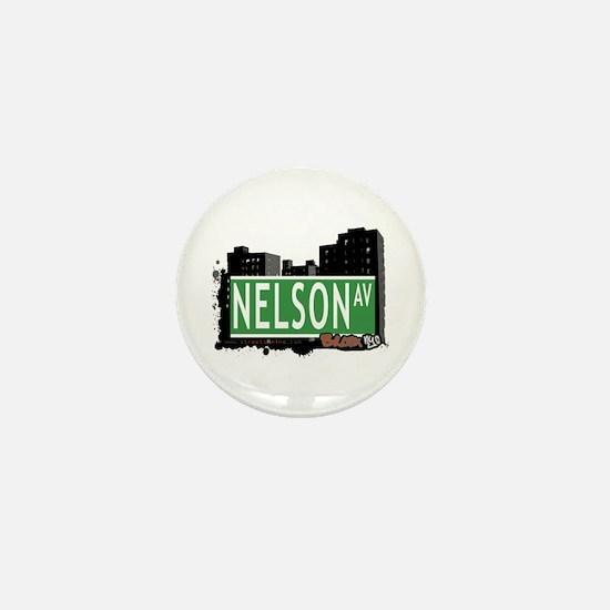 Nelson Av, Bronx, NYC Mini Button