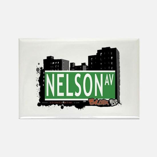Nelson Av, Bronx, NYC Rectangle Magnet