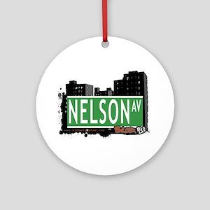 Nelson Av, Bronx, NYC Ornament (Round)