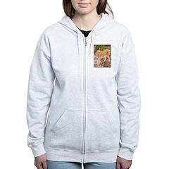 Siberian Lynx Zip Hoodie