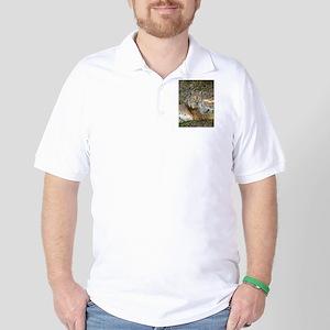 Siberian Lynx Golf Shirt
