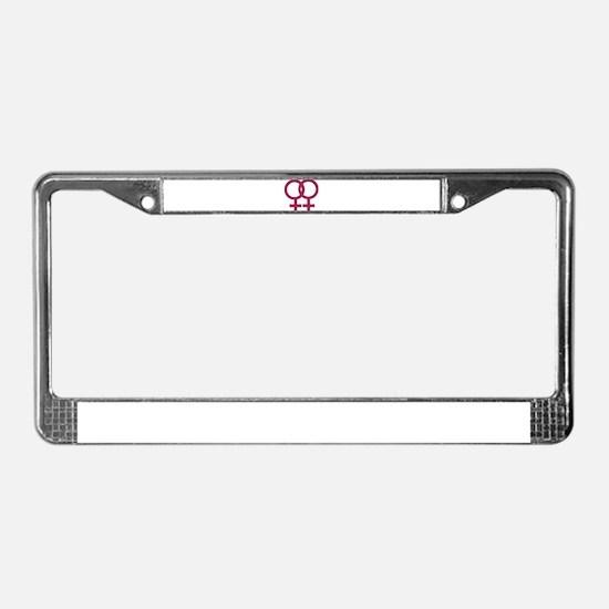 Lesbian License Plate Frame