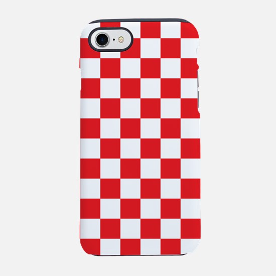 Red Checkered iPhone 7 Tough Case