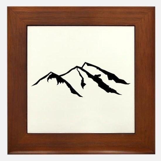 Mountains Framed Tile