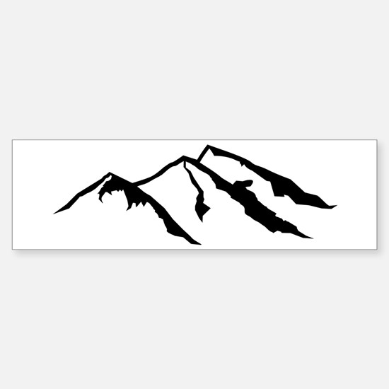 Mountains Sticker (Bumper)