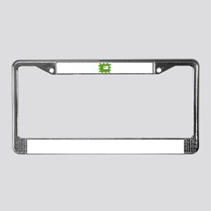 Puzzle Note License Plate Frame