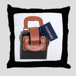 Ready to travel Throw Pillow