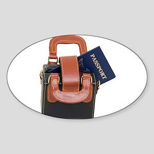 Ready to travel Sticker (Oval)
