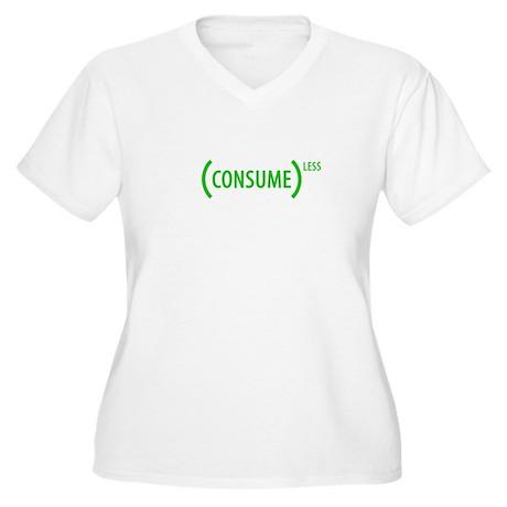 Consume (LESS) Women's Plus Size V-Neck T-Shirt