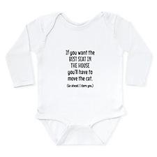 Funny Cat Long Sleeve Infant Bodysuit