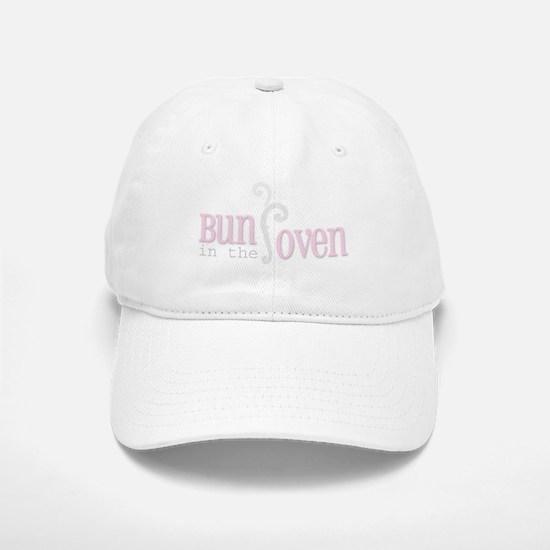 Bun in the Oven Pink Baseball Baseball Cap