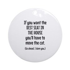 Funny Cat Round Ornament