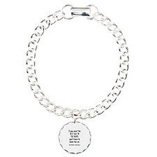 Funny Cat Charm Bracelet, One Charm