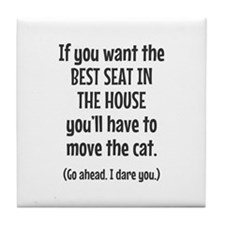 Funny Cat Tile Coaster