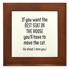 Funny Cat Framed Tile