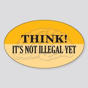 Think! Oval Sticker