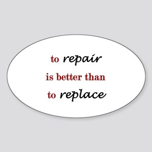 Repair Oval Sticker