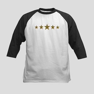 Stars gold Kids Baseball Jersey