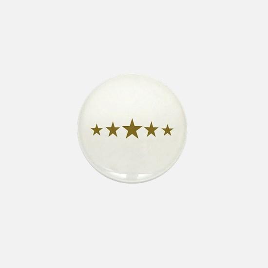 Stars gold Mini Button