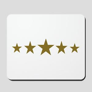Stars gold Mousepad