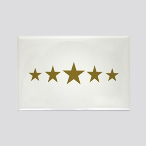 Stars gold Rectangle Magnet