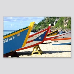 Fishing boats, Puerto Rico Rectangle Sticker