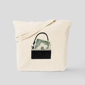 Purse With Big Bucks Tote Bag