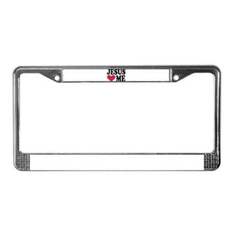 Jesus loves me License Plate Frame