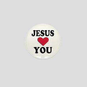 Jesus loves you Mini Button
