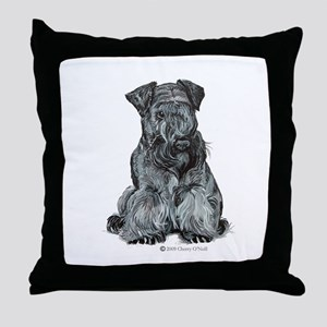 Cesky Terrier Throw Pillow