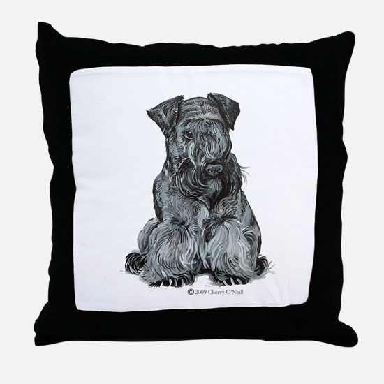 Cesky Terrier Throw Pillow