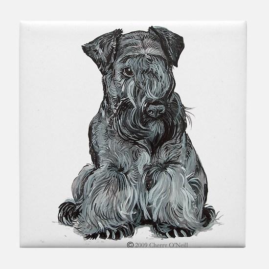 Cesky Terrier Tile Coaster