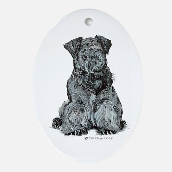 Cesky Terrier Ornament (Oval)