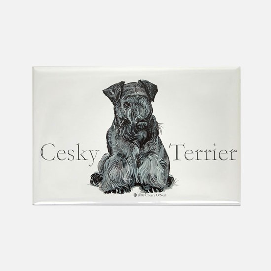 Cesky Terrier Rectangle Magnet